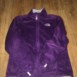 Women's purple north face fleece